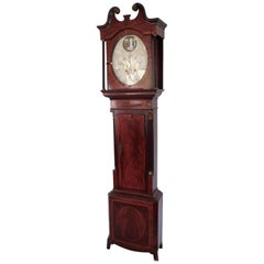 English Georgian Mahogany Tall Case Clock by Joseph Baldwin of Burton-on-Trent