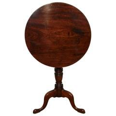 English Georgian Mahogany Tripod Lamp Table
