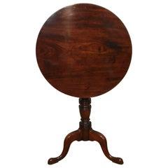 English Georgian Mahogany Tripod Table