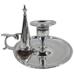 English Georgian Neoclassical Sterling Silver Chamberstick