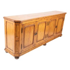English Pine Credenza Country Sideboard, Large Scale
