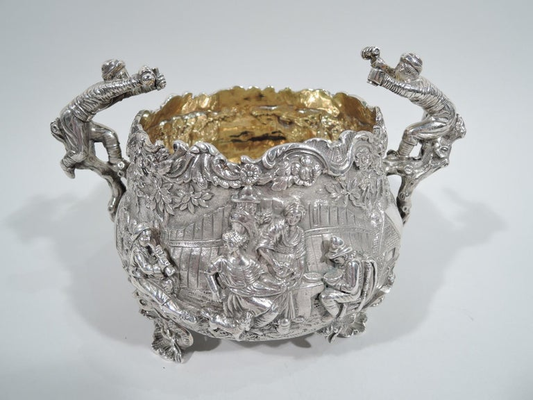 English Georgian Regency Teniers Tea Set by Edward Farrell For Sale 7