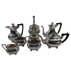 English Georgian Sterling Silver Coffee and Tea Set by Mappin & Webb