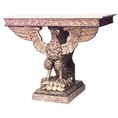 English Georgian Style '19th Century' Eagle Console Table