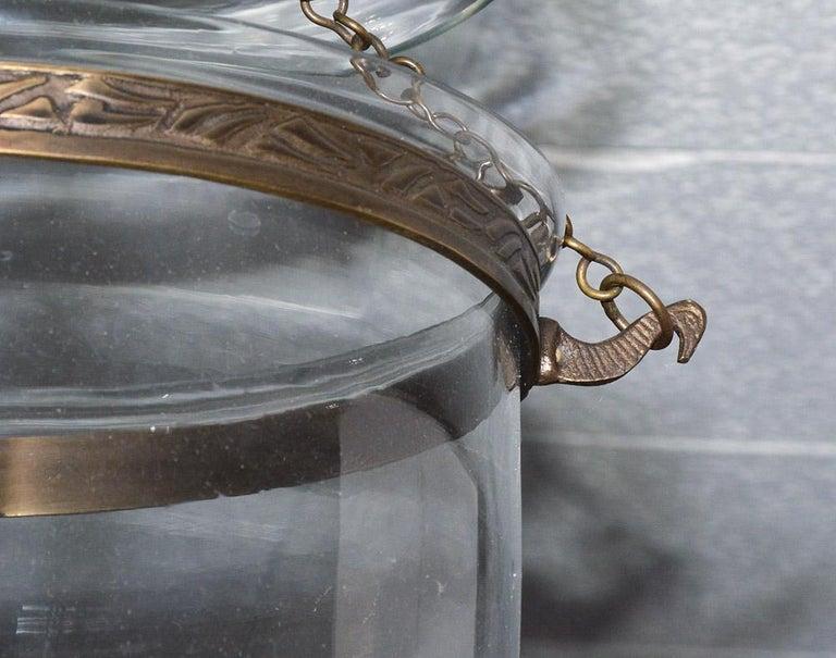 English Georgian Style Bell Jar Hanging Hall Lantern For Sale 1