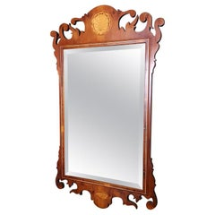 English Georgian Style Inlaid Mirror, Early 21st Century or Late 20th Century