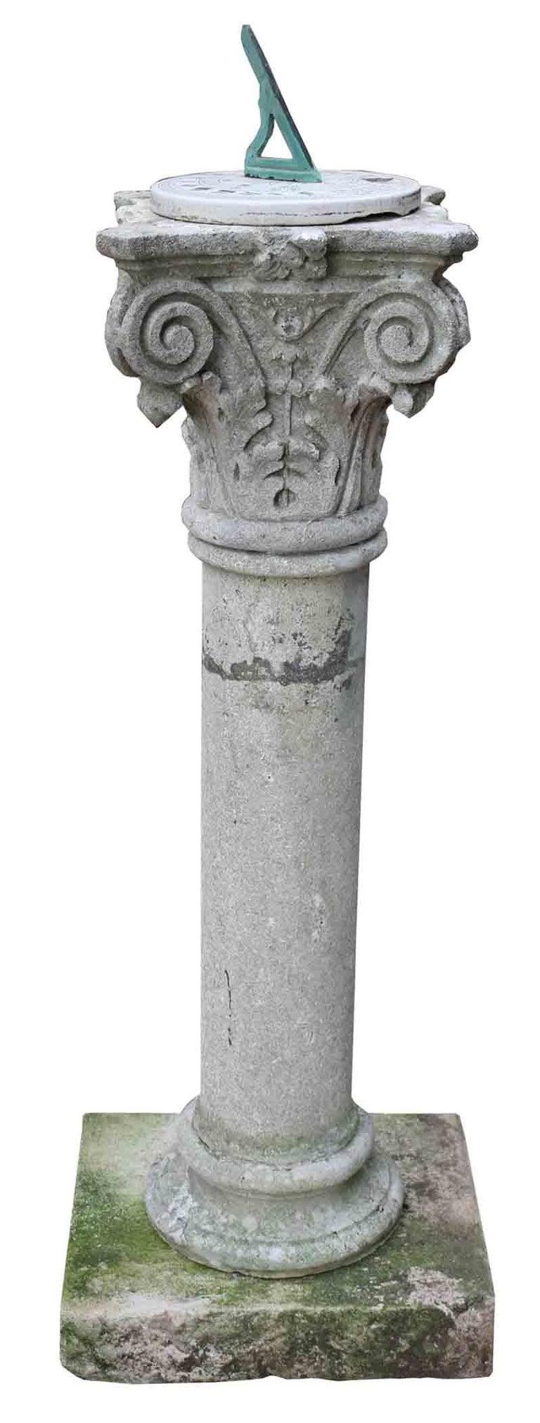 Hand-Crafted English Georgian Style Limestone Garden Sundial For Sale