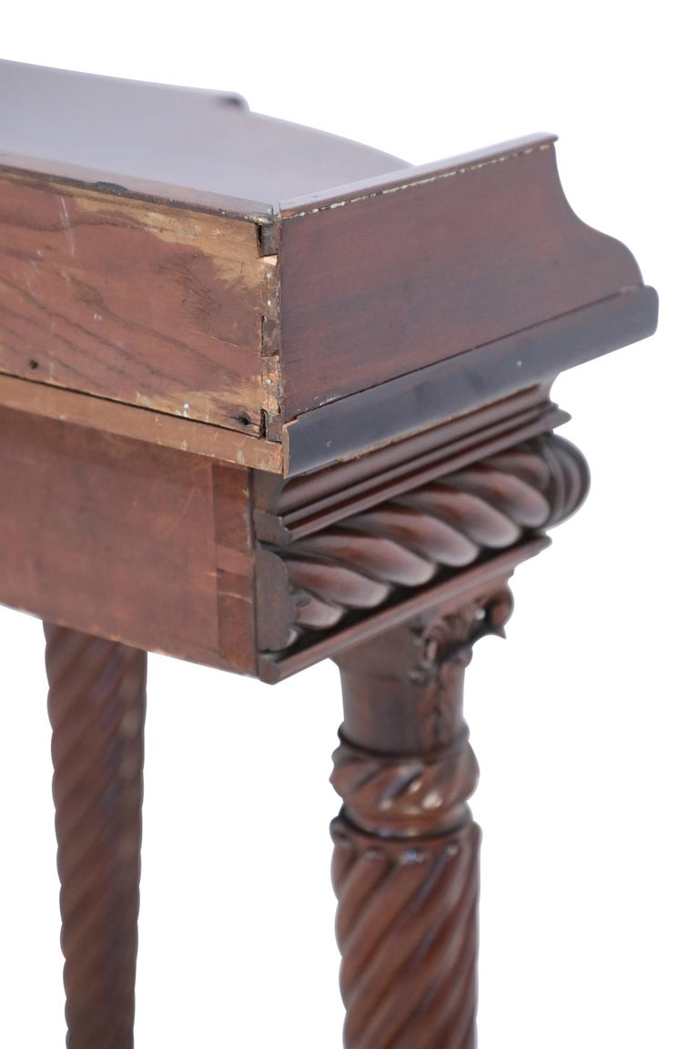 English Georgian Style Mahogany Console Table with Lion Feet For Sale 4