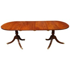 English Georgian Style Mahogany Dining Table