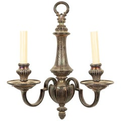 English Georgian Style Silver Plate Wall Sconce