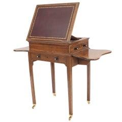 English Georgian Style Walnut End Table or Desk