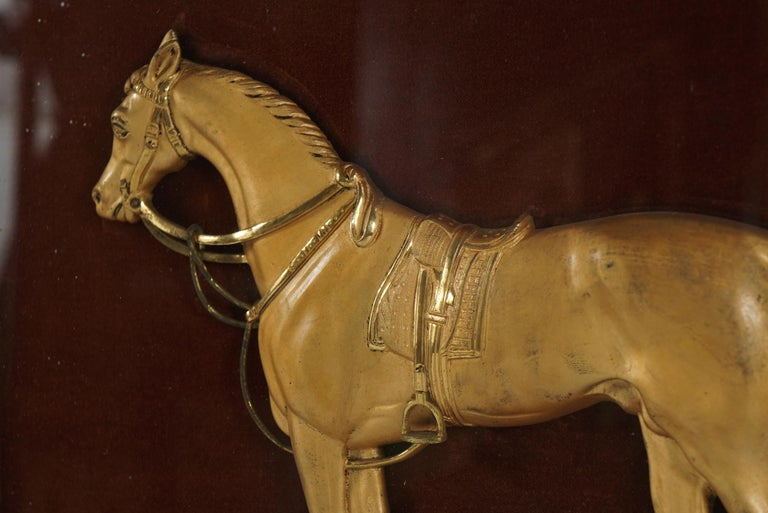 English Gilded Brass Plaque of