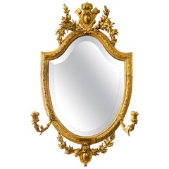 English Gilt Girandole Mirror