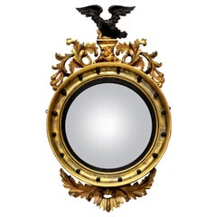 English Giltwood Regency Convex Mirror