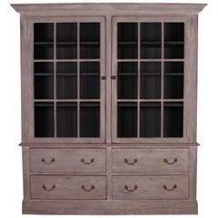 English Glazed Kitchen Cabinet