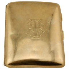 English Gold 9-Karat Cigarette Case, 1909, Birmingham