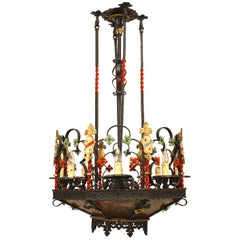 English Gothic Revival Style '1920s' Chandelier