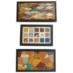 "English ""Grand Tour"" Derbyshire Specimen Marble Plaque Paperweights, circa 1850"
