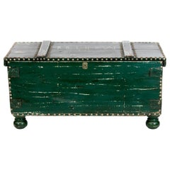 English Green Blanket Chest