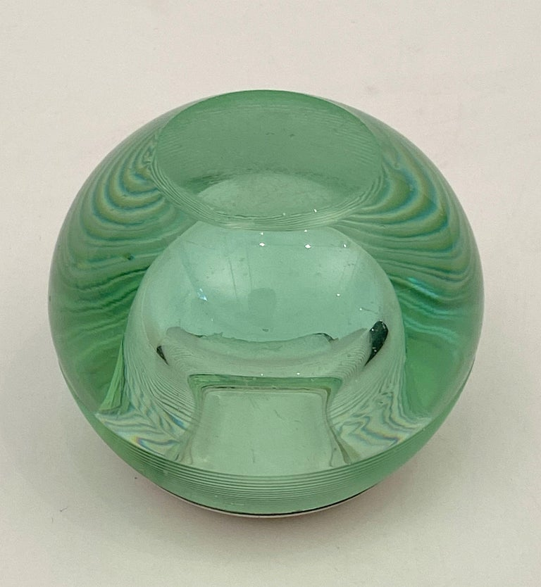 English Green Match Striker with Sterling Silver Rim For Sale 7