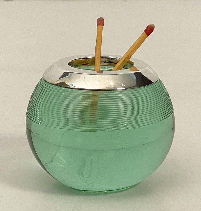 English Green Match Striker with Sterling Silver Rim For Sale 10