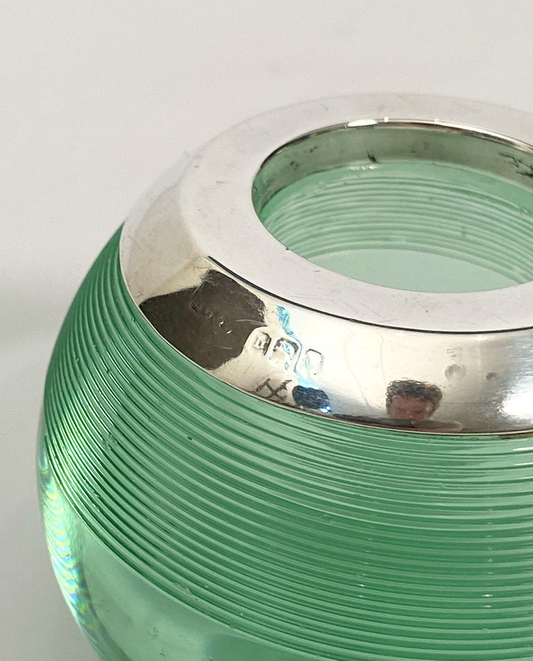 English Green Match Striker with Sterling Silver Rim For Sale 11