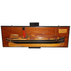 English Half Hull Model of the Steam Packet Trent, 1931