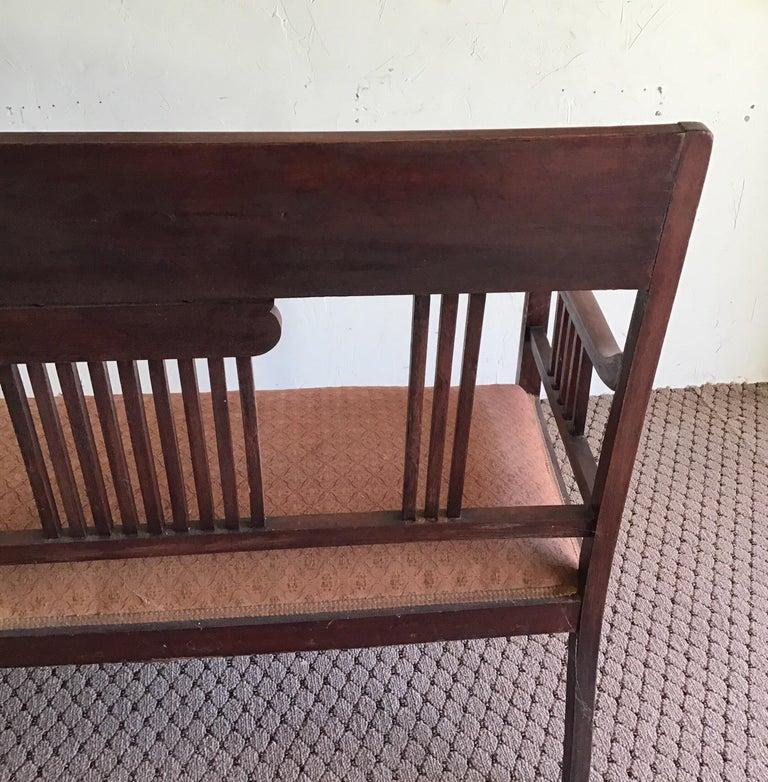 English Hall Bench, circa 1920s For Sale 5