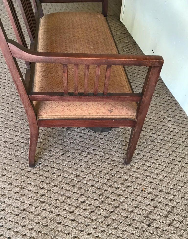 English Hall Bench, circa 1920s For Sale 6