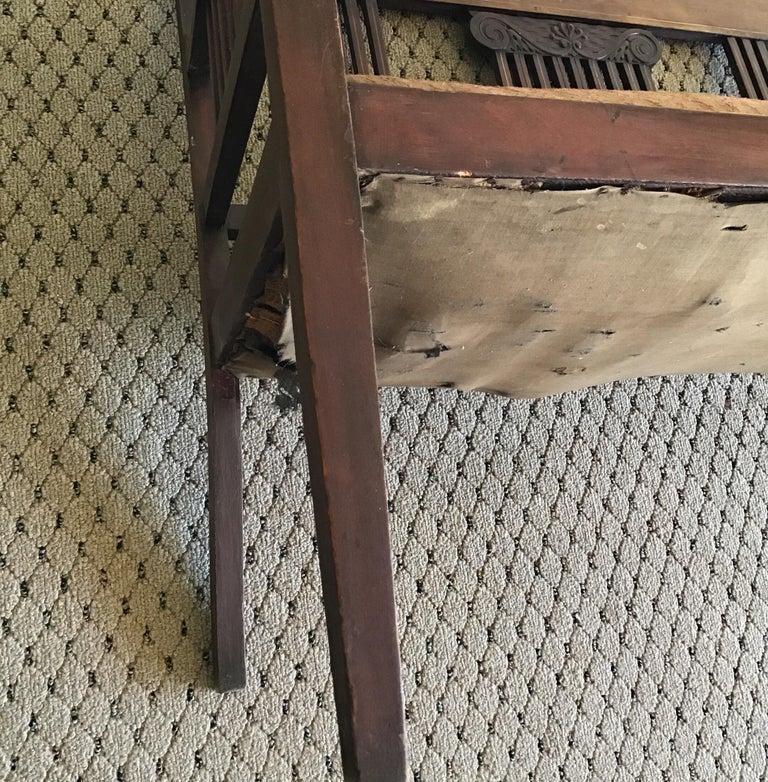 English Hall Bench, circa 1920s For Sale 2