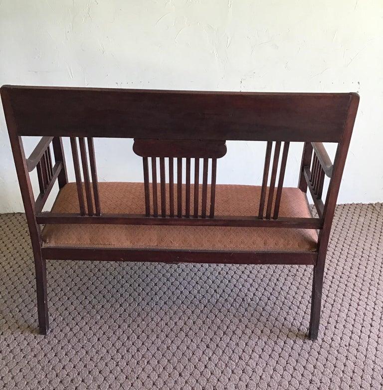 English Hall Bench, circa 1920s For Sale 4