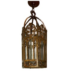 English Hammered Bronze Lantern