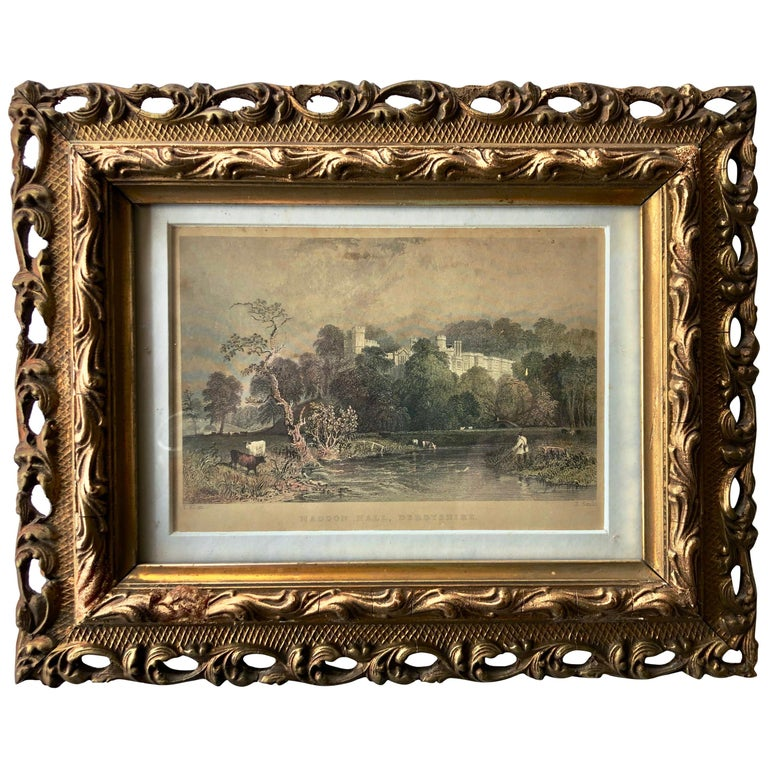 English Hand Colored Steel Engraving By Thomas Allom A