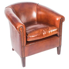 English Handmade Amsterdam Leather Armchair BBA