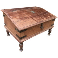 English Hard Wood Portable Writing Desk, circa 1850