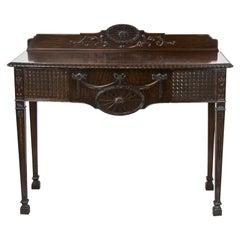 English Hepplewhite Console Mahogany Table
