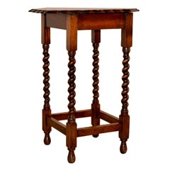 English Hexagonal Side Table, circa 1900
