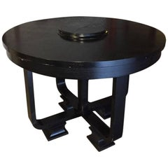 English High Table in Black Painted Durmast Wood Coming from a Ralph Lauren Shop