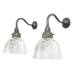 English Holophane Wall Lights, circa 1920s