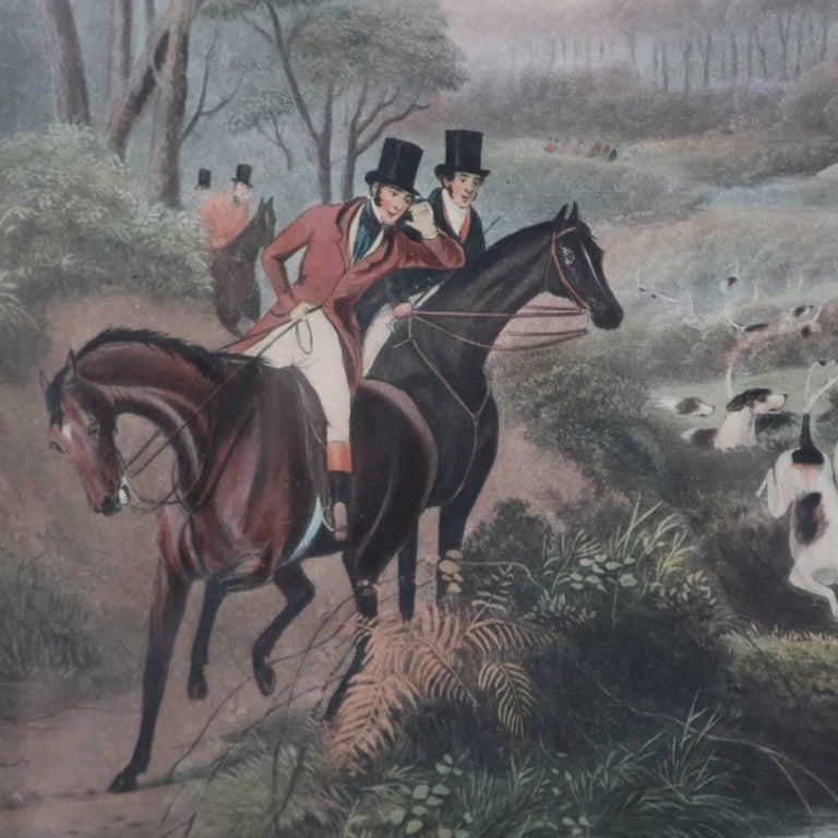 Print of English hunt scene titled