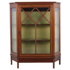 English Inlaid Mahogany Display Cabinet