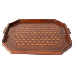 English Inlaid Parquetry Tray