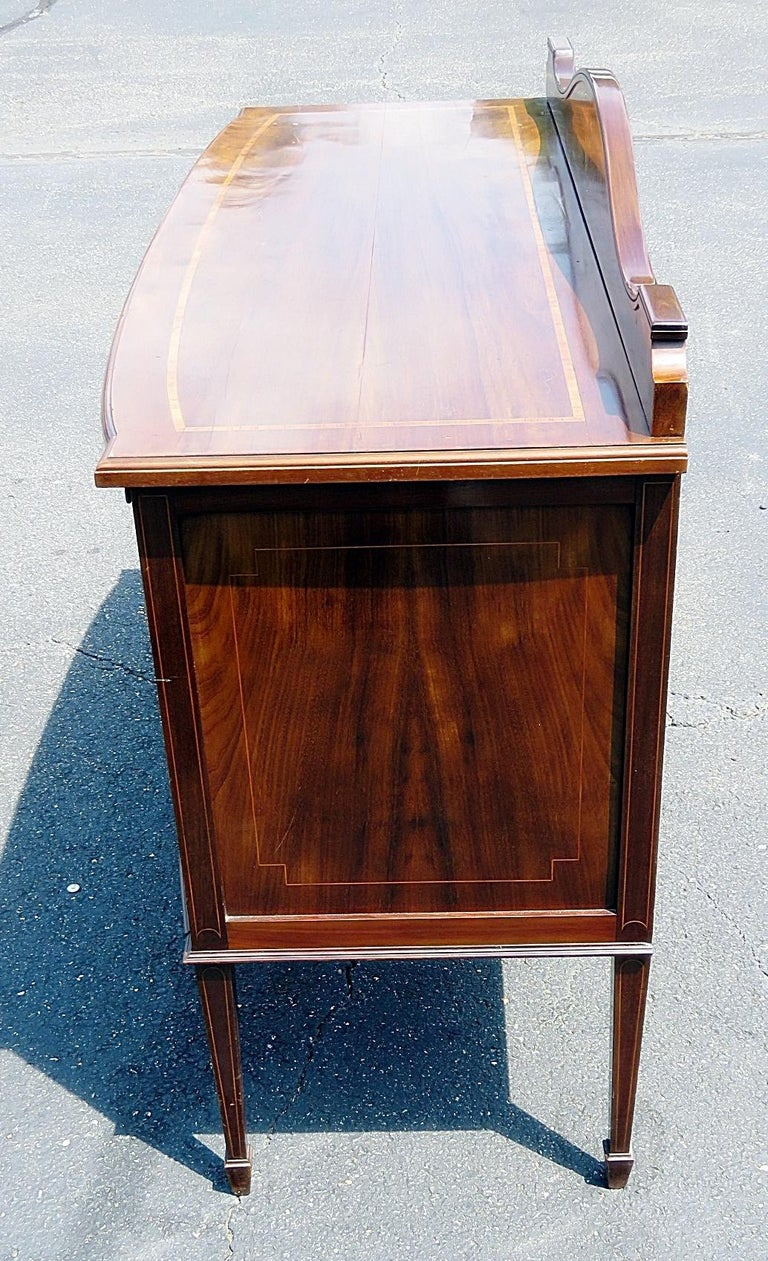 English Inlaid Server Attributed to Edwards and Roberts In Good Condition For Sale In Swedesboro, NJ