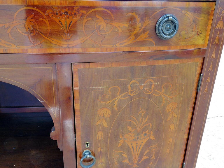 English Inlaid Server Attributed to Edwards and Roberts For Sale 1