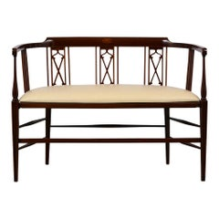 English Circa 1900s Regency Style Curved Bench,