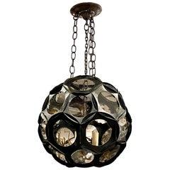 English Iron and Glass Lantern