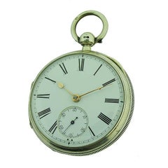 English Keywind Lever Escapement Silver Open Face Pocket Watch, circa 1880s