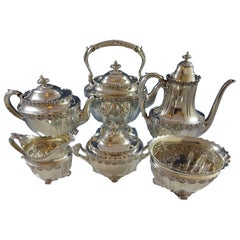 English King by Tiffany & Co. Sterling Silver Tea Set 6 Pieces No Monograms