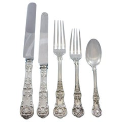 English King by Tiffany Sterling Silver Flatware Set 12 Service 60 Pieces Dinner
