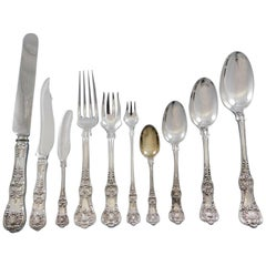 English King by Tiffany Sterling Silver Flatware Set for 8 Service 127 Pc Dinner